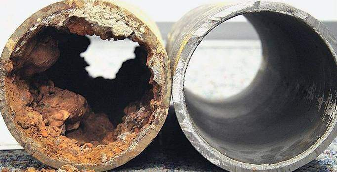 Clogged Drains - Before and After